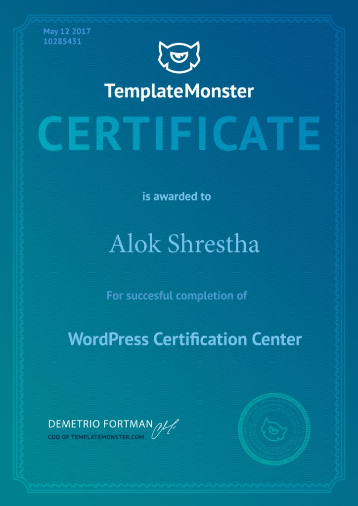 Template Monster Certified